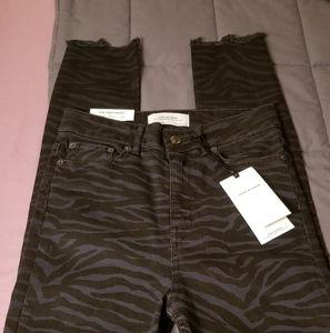 🦓 Fun Zara Sz 4 Zebra Print High Rise Jeans